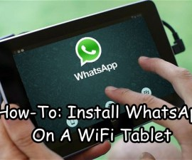 WhatsApp On A WiFi Tablet