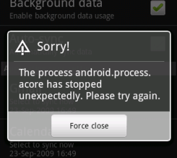 Android Apps Errors
