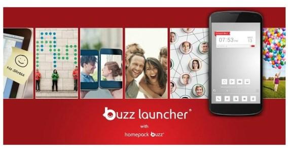 تغيير شكل الهاتف من خلال برنامج Buzz Launcher