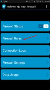 تطبيق Mobiwol NoRoot Firewall