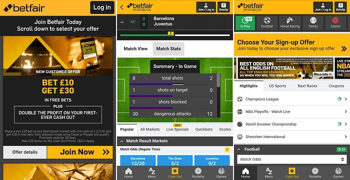 Full review of the Betfair Android app