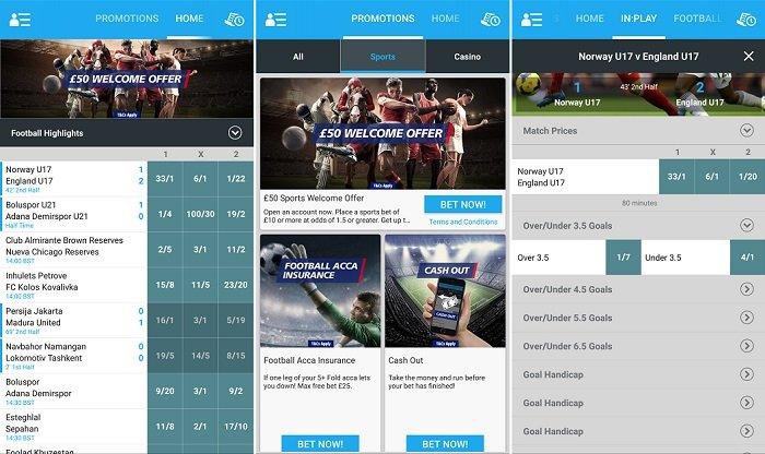 Latest Sportingbet app
