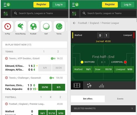 New Unibet Android app