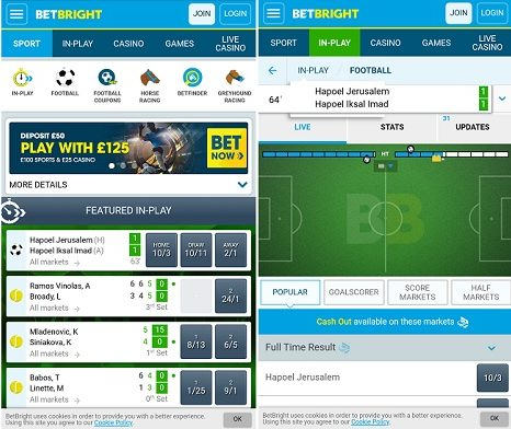 BetBright Android app