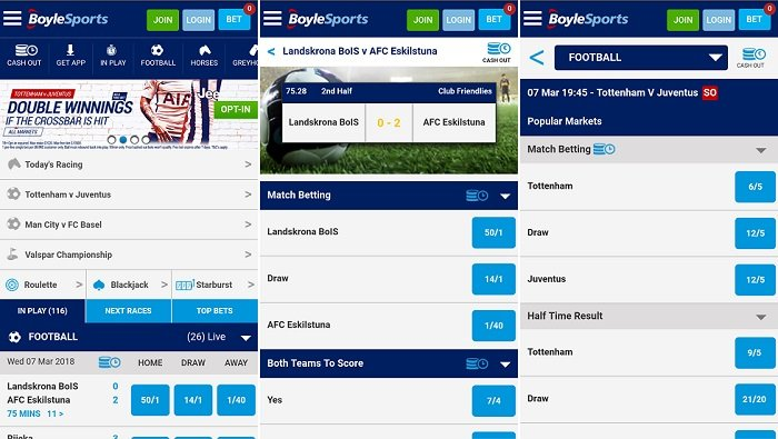 Android app review - Boylesports mobile