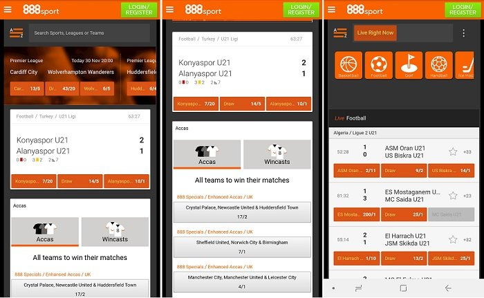 888sport app on Android