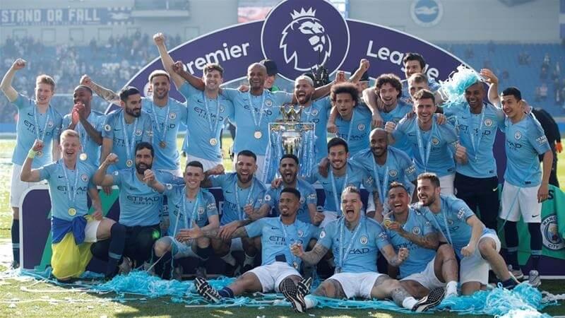 Man City 18/19 League winners