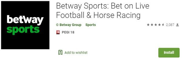 Betway Sports app on Play store