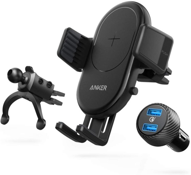 Anker PowerWave Fast Wireless Car Charger With Air Vent Phone Holder