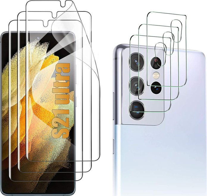 Luibor Galaxy S21 Ultra Screen Protector Render