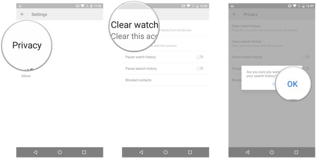 youtube-android-clear-history-screens-02 How to upload videos and manage the YouTube app for Android Android