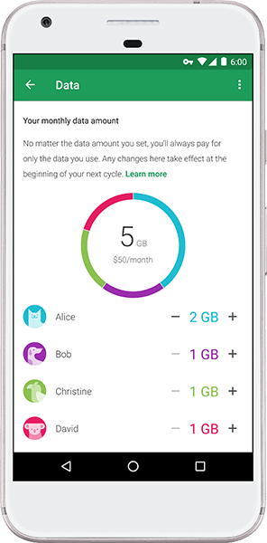 Google Project Fi launches group plan for up to six people on a single account