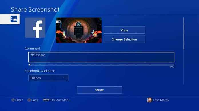 share images and movies from PlayStation Community