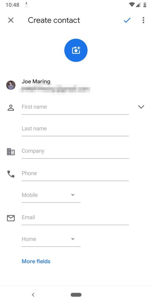 Create contact for WhatsApp