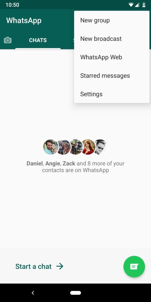 WhatsApp broadcast feature