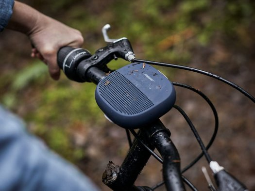 bose soundlink speaker on bike