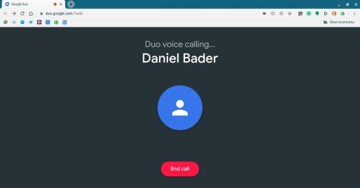 Google Duo Web Call