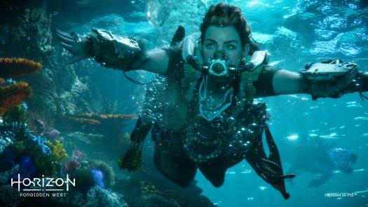 Horizon Forbidden West Aloy Underwater