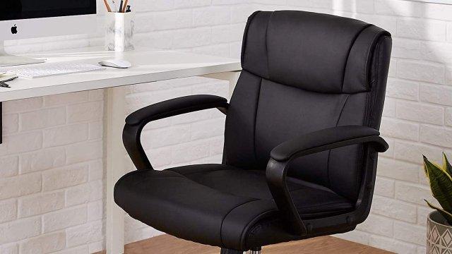 Amazon Basics Classic Leather Office Chair Lifestyle