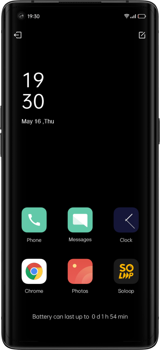 ColorOS 11 battery