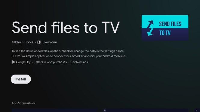 Send files to TV app