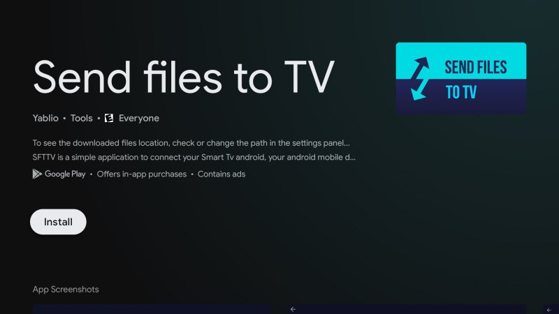 Send files to the TV app