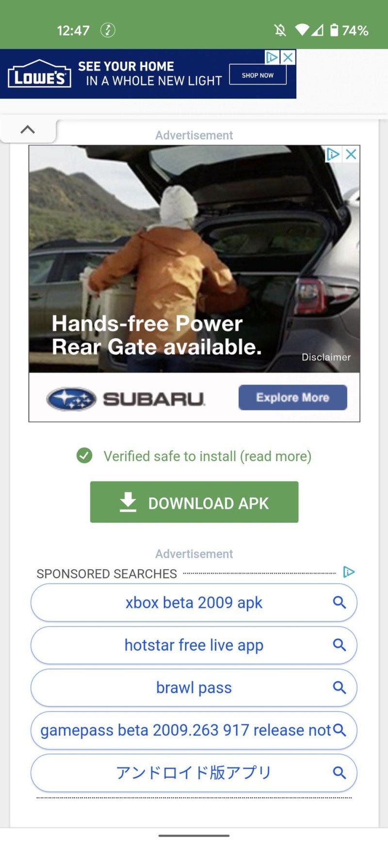 Xbox Game Pass APK file