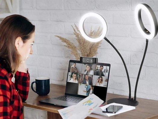 Evershop Dual Computer Selfie Ring Light Lifestyle