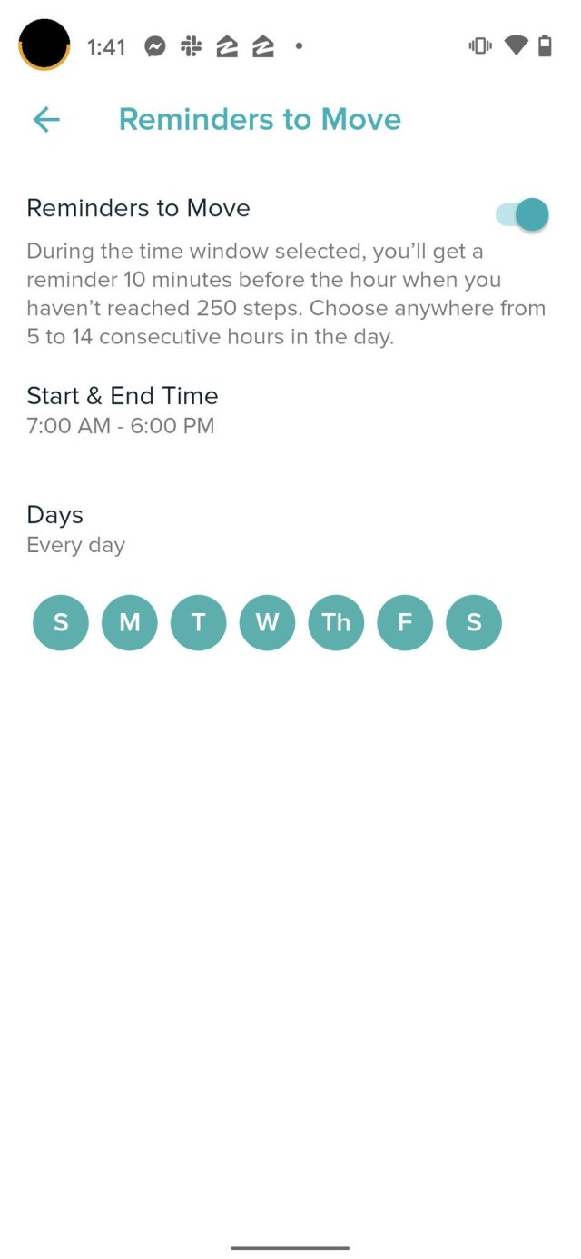 Fitbit Move Reminder Step 3