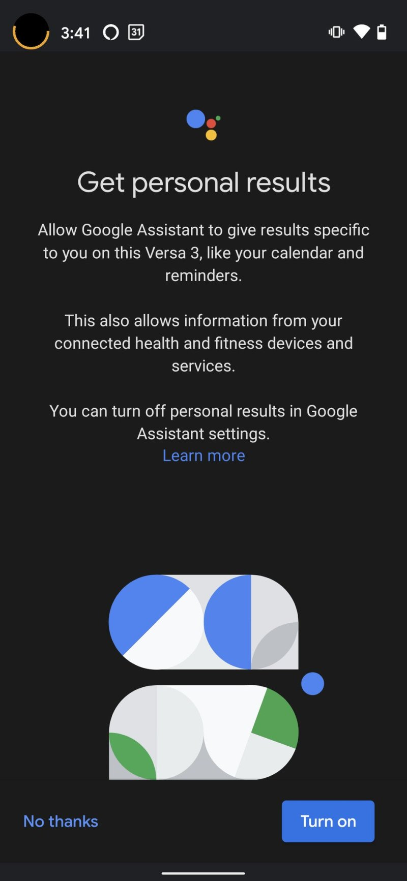 Fitbit Versa 3 Google Assistant Step 9