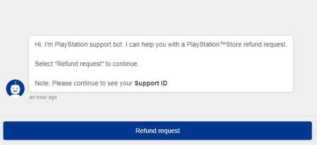 Refund Request Psn