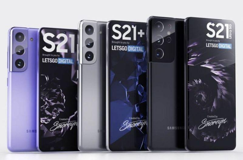 Samsung Galaxy S21 Trio Leaked Renders