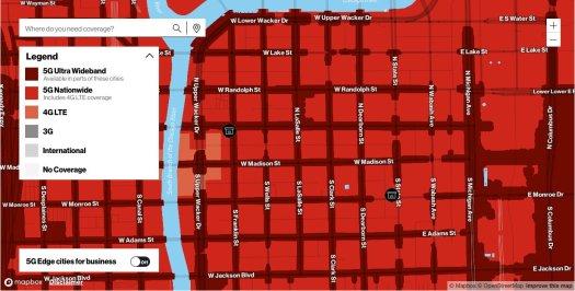 Verizon Ultra Wideband Downtown Chicago