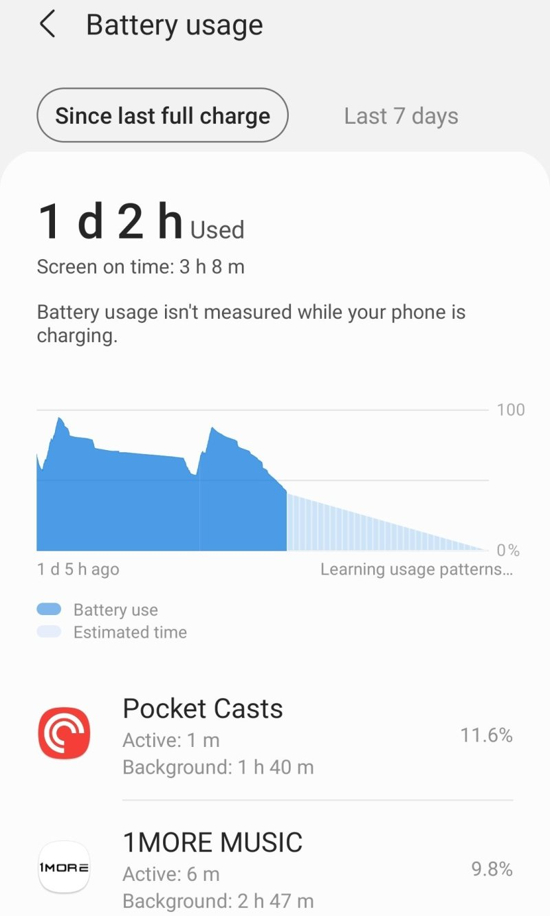 Battery drain from 1More app