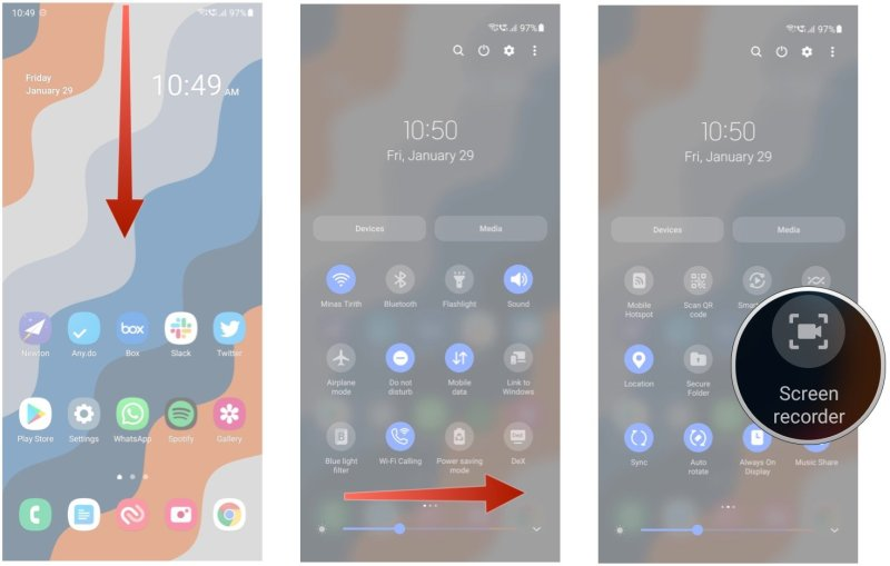 How to record, on the screen of your Samsung Galaxy phone
