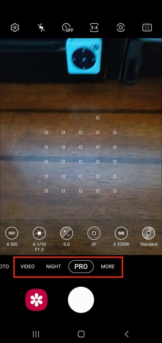 Samsung Camera Mode Advanced Step 4