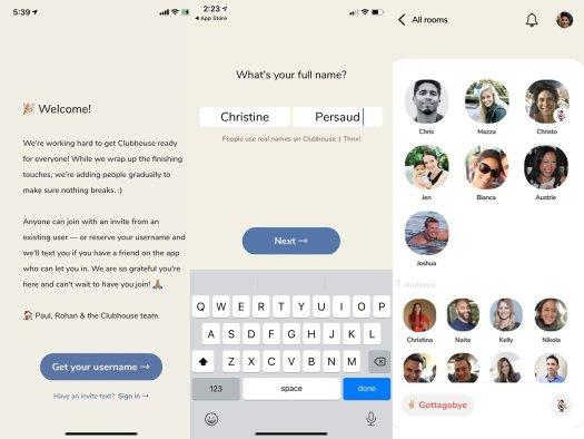Clubhouse App Screenshots