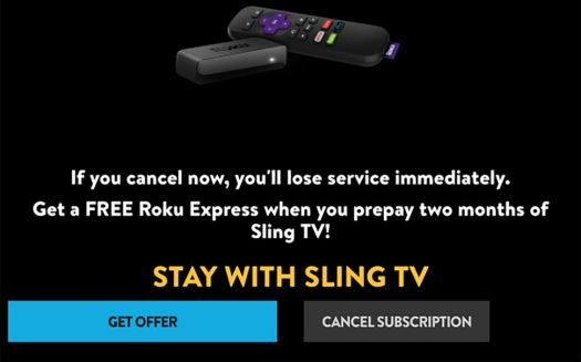 Sling Tv Cancellation Offer