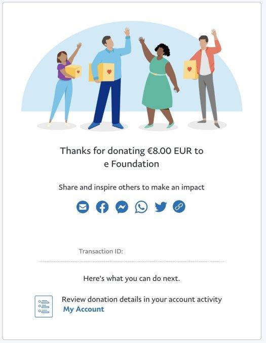 E Foundation Donation Jeramy