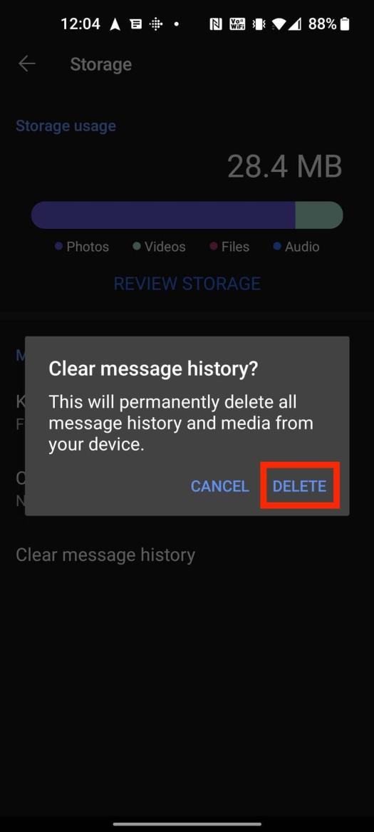 How To Erase Chat History Signal Android 5