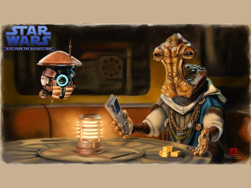 Star Wars Tales From The Galaxys Edge Part 2 Teaser Art