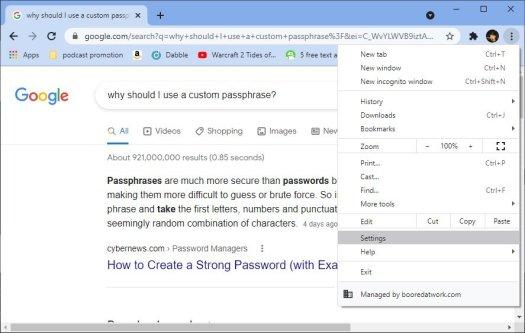Desktop Chrome Sync Passphrase Ss