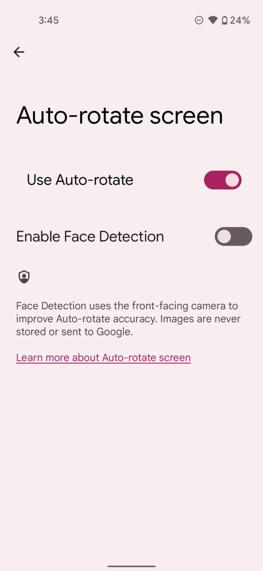 Android 12 Auto Rotate
