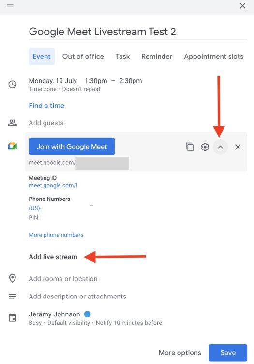 How To Livestream Google Meet 3