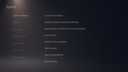 Ps5 Settings System Software