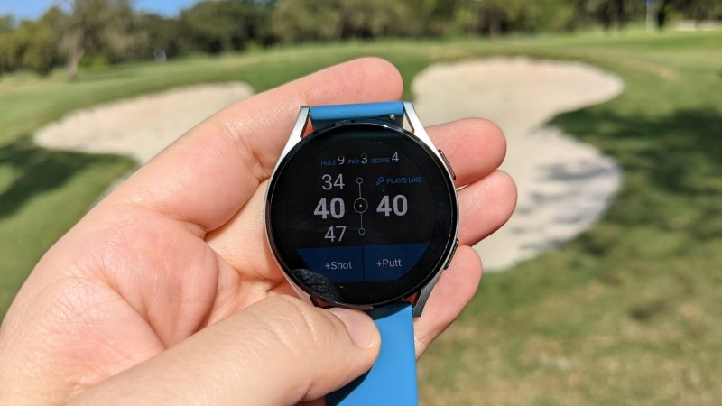 GolfPad on the Galaxy Watch 4