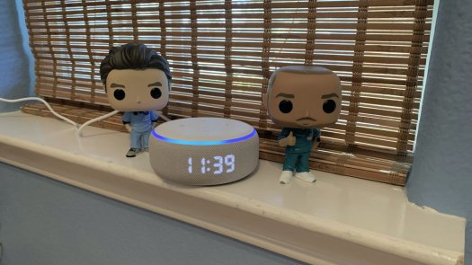 Echo Dot with Clock Turk and JD