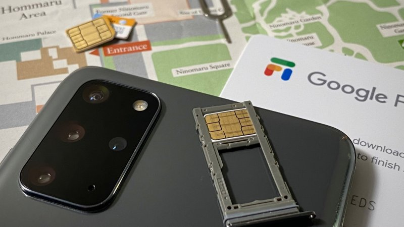 Google Fi Sim on map