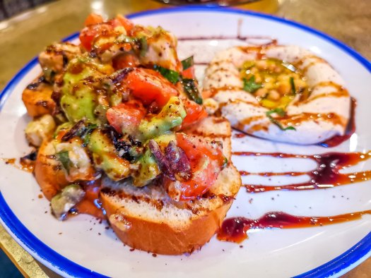 avocado toast food shot