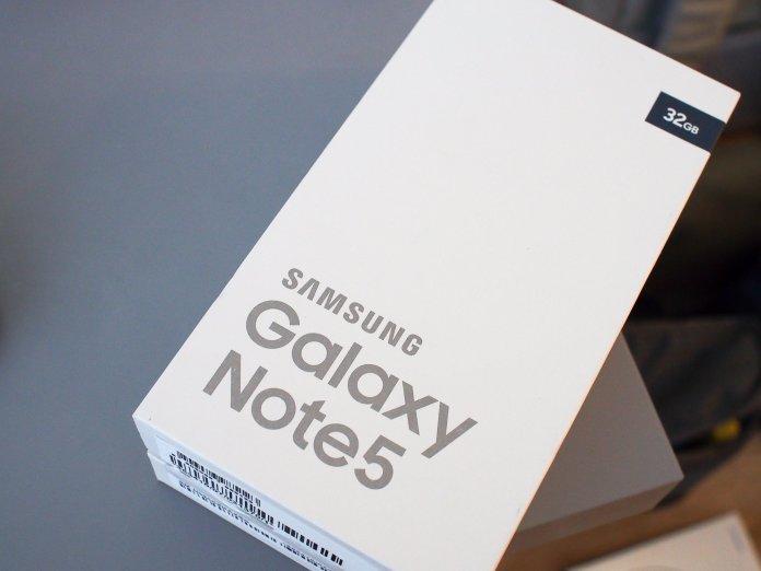 Galaxy Note 5 box